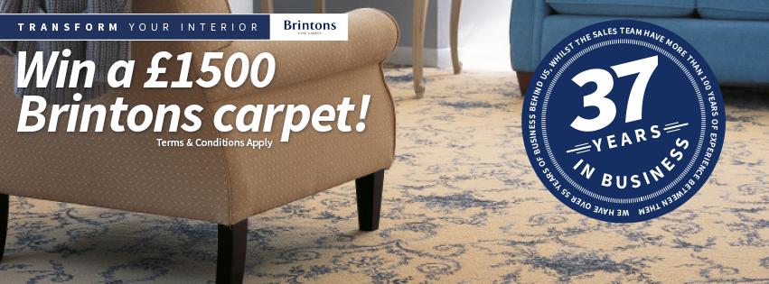 WIN £1,500 worth of Brintons carpet